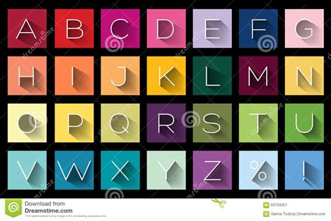 set of alphabet letters and icons for alphabet design flat design letters icons alphabet stock illustration 39852
