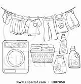 Laundry Washing Coloring Basket Machine Drying Printable Detergent Clothesline Clipart Template Lineart Visekart Posters Prints Sketch Templates Illustrations Clipartof sketch template