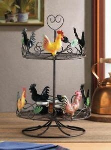 primitive country chicken rooster  cup basket holder double bin rack stand ebay