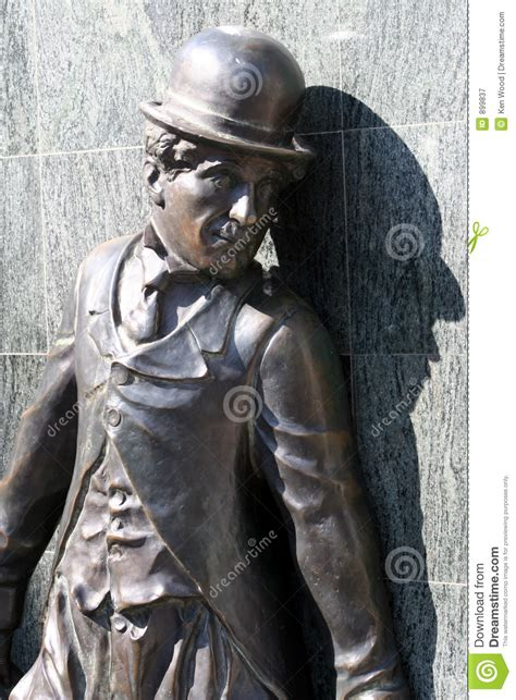 charlie chaplin statue editorial photography image