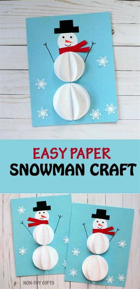 easy preschool winter crafts easy paper snowman craft for 947