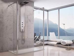 Duschtrennwand Bodengleiche Dusche : freistehende duschtrennwand 120 x 200 cm beweglichen ~ Michelbontemps.com Haus und Dekorationen