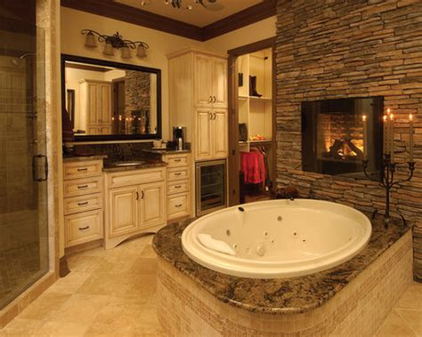 bathroom fireplace ideas pictures remodel  decor