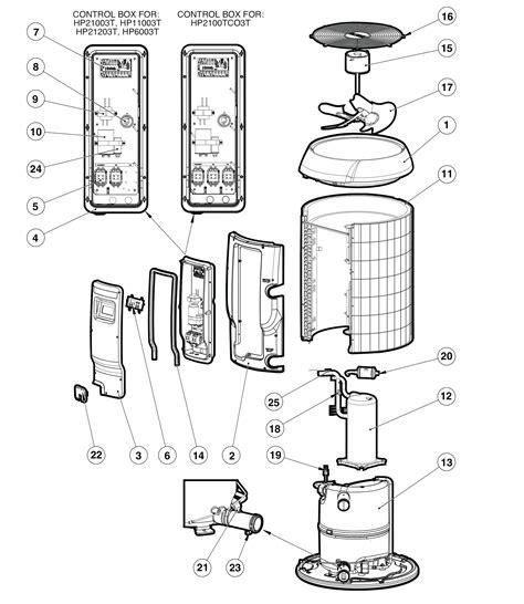 hayward heater parts diagram