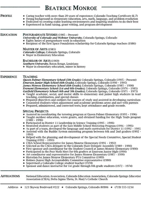 Elementary Social Studies Resume by Lowscompfacca Curriculum Vitae Exles