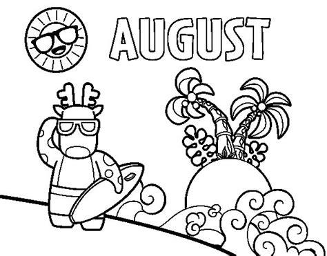 august coloring page coloringcrewcom