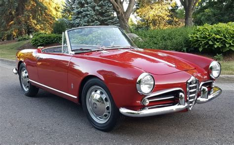 Alfa Romeo Giulietta Spider For Sale by 1962 Alfa Romeo Giulietta Spider Normale For Sale On Bat