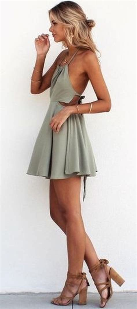 Summer casual backless dresses outfit style 37   Fashion Best