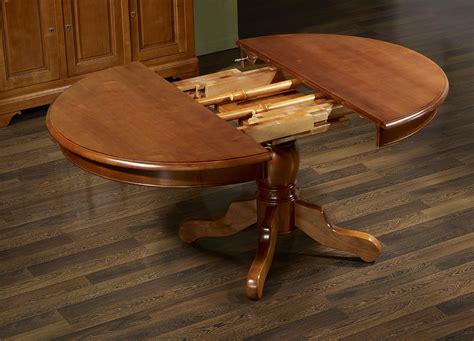 table ronde pied central berangere en merisier massif de