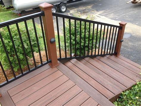 black porch railing composite deck railing black search decks