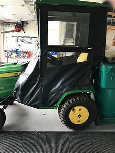 John Deere X738 Garden Tractor W  Snow Thrower  Mower