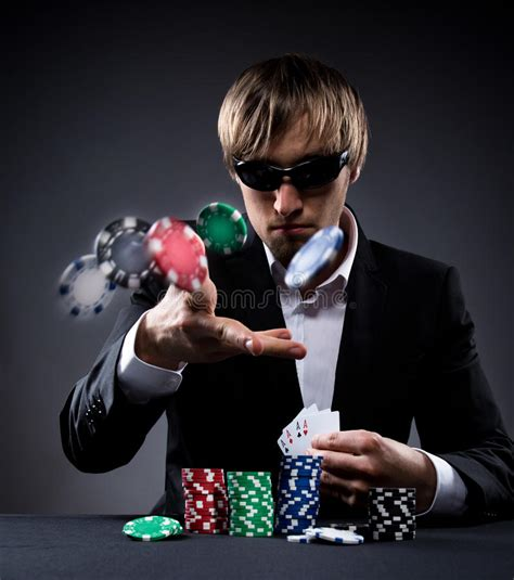 poker player stock image image  gamble betting chips