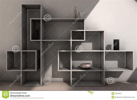 modern bookcase stock image image