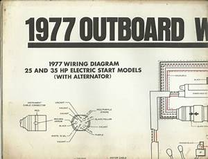 Johnson Marine Boat 1977 Outboard Wiring Diagrams 25 35 55