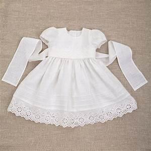 Baby Girl Baptism Linen Dress Heirloom Gown Special