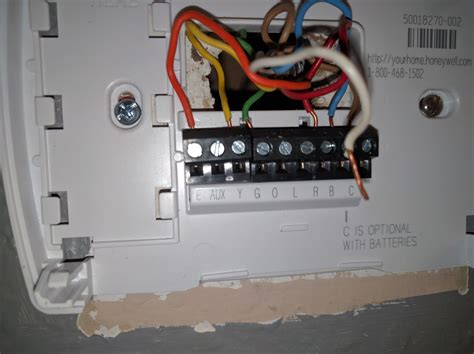 another thermostat wiring question hvac diy chatroom home improvement forum