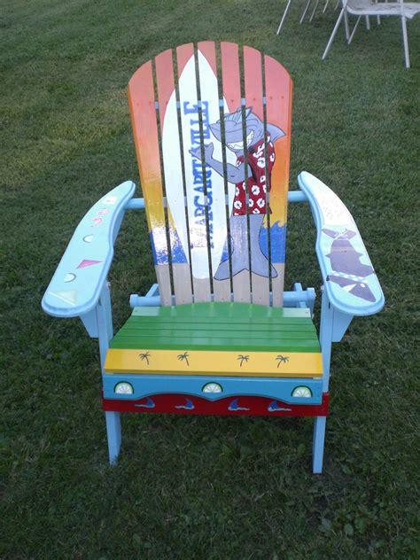 painted adirondack chair shark by serendipitysurfshop