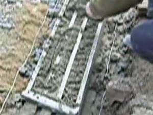 Pose De Pavé Sur Mortier Sec : grille ma on pose de ciment sur parping youtube ~ Melissatoandfro.com Idées de Décoration