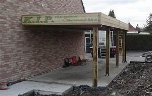 Faire Un Carport : carport en bois adosse toit en pente ~ Premium-room.com Idées de Décoration