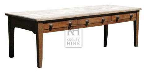 kitchen table with drawers tables prop hire 187 large pine kitchen table with drawers keeley hire