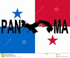 Panama Text With Map Stock Vector  Illustration Of Panama