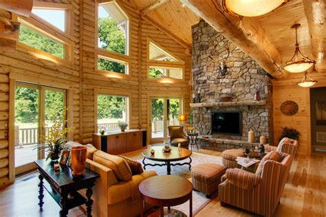 pictures of interiors of homes log home interiors of carolina log homes