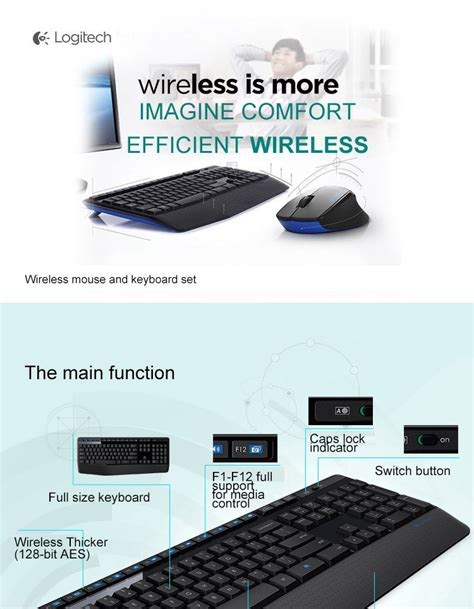 wireless optical mouse keyboard set logitech coins shopy