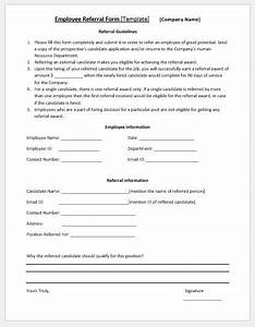 Employee Referral Form Template Word Employee Referral Form Template Ms Word Microsoft Word