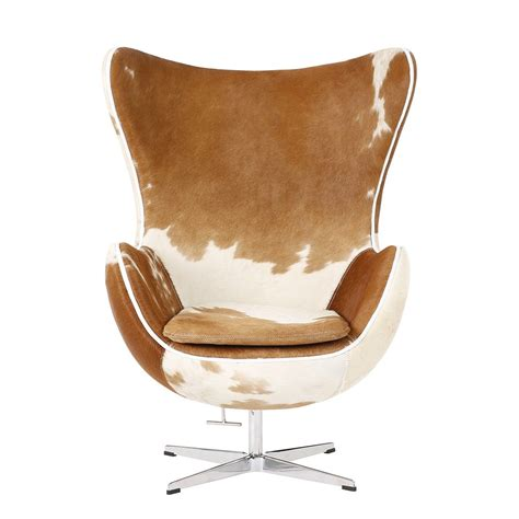 Egg Chair Cowhide by Egg Chair Covered With Pony Cowhide Leather And Aluminium