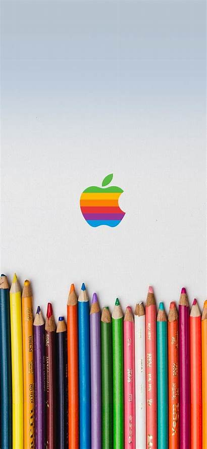 Rainbow Iphone Apple Pastels Wallpapers Pastel Max