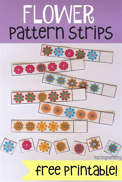 flower pattern strips math skills preschool flower 834 | c406af82edf0c340878d7ecac8b09f7e
