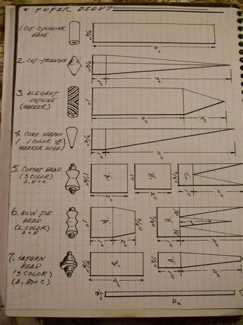 paper bead template basic paper 183 how to make a paper bead 183 beadwork jewelry and