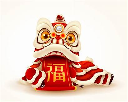 Lion Chinese Dance Scroll Vector Vecteezy Clipart