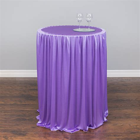 linentablecloth chiffon stretch cocktail tablecloth