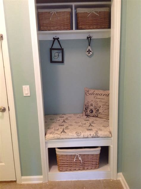 mud room closet conversion playroom