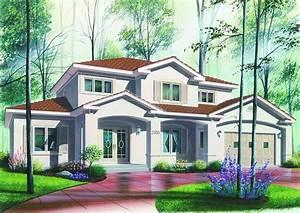Contemporary, House, Plan, -, 6, Bedrms, 4, 5, Baths