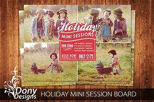 Holiday Mini Session Template Photography Marketing by ...
