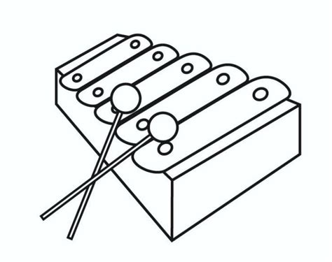 xylophone  instrument coloring pages