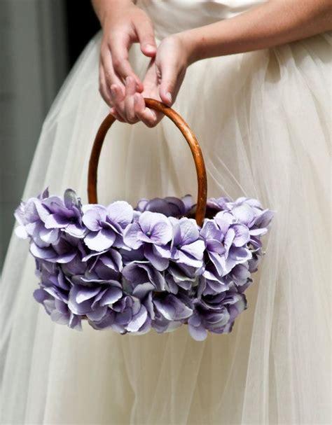 lavender flower girl basket wedding basket simple
