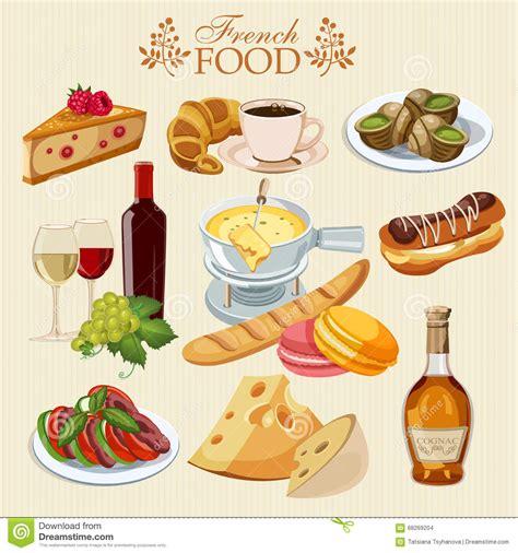 o fr cuisine vector set of cuisine national food of