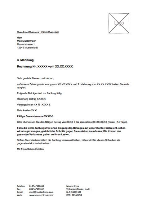 kostenlose mahnungsvorlage zum  von lexoffice