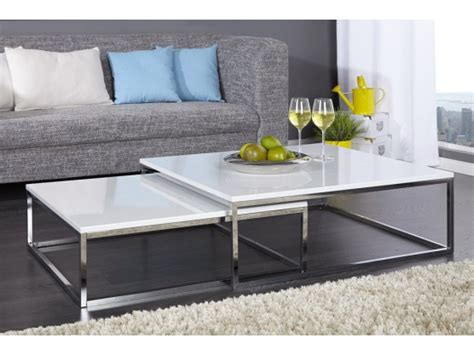 table cuisine ronde blanche table basse design blanc laque