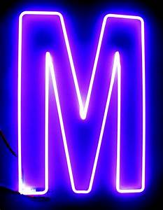 the letter m 235quot x 165quot purple large letter hook With neon letters