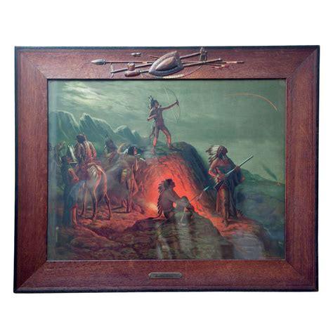 indian lithograph burning arrow  stdibs