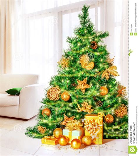 christmas tree at home royalty free stock images image
