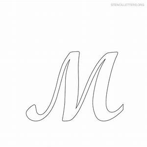 Printable letter stencils stencil letter m printables to for Large letter stencil template