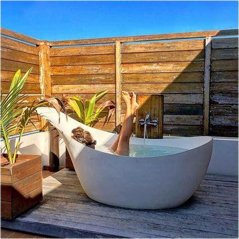 garten badewanne outdoor badewanne holz