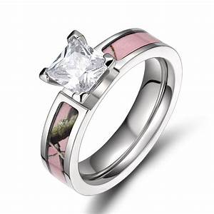 women39s new fashion 5mm titanium light pink tree camo ring With women camo wedding rings