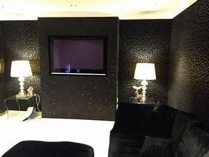 Cheetah print bedrooms, black glitter wallpaper bedroom