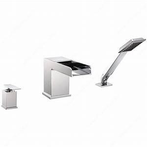 robinet de baignoire riveo quincaillerie richelieu With porte d entrée pvc avec robinet lavabo salle de bain avec douchette